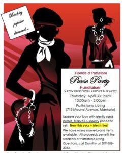 April 30, 2020 Purse Party at Ecumen Pathstone Living